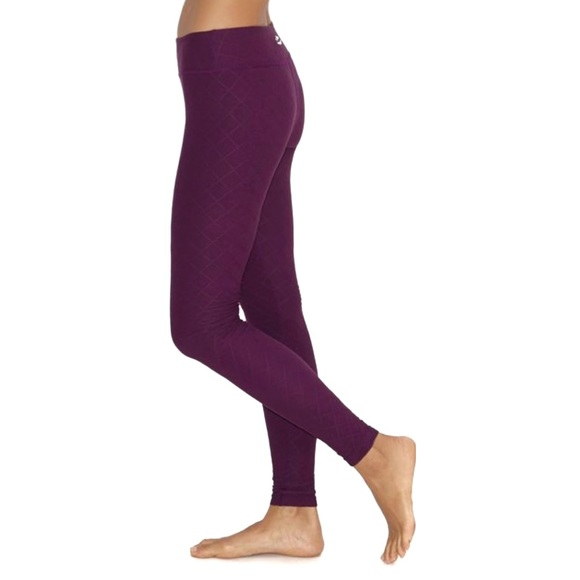 Beyond Yoga Pants - Beyond Yoga Can't Quilt You Wild Plum Leggings
